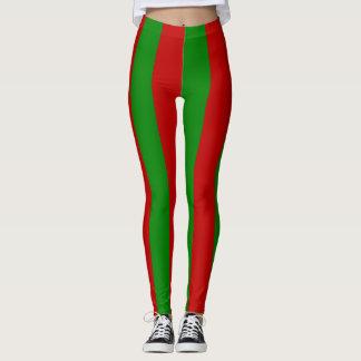 Toksie Turbie Red and Green Wallpaper Leggings