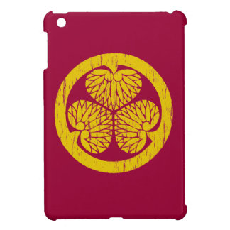 Tokugawa gold crest distressed iPad mini case