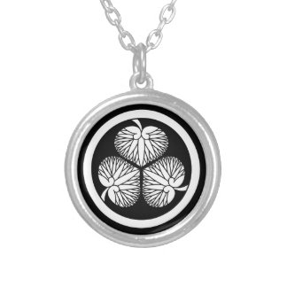 Tokugawa hollyhock 2(first,2nd,3rd)33 silver plated necklace