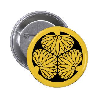 Tokugawa shoguns mon (crest) 6 cm round badge