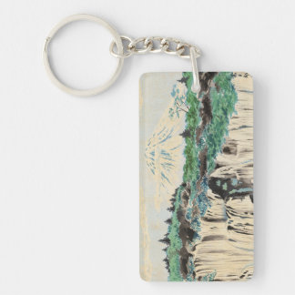 Tokuriki Tomikichiro Thirty Six Views of Mt Fuji Double-Sided Rectangular Acrylic Key Ring