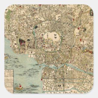 Tokyo 1854 square sticker