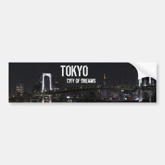 Tokyo by Night Bumper Sticker