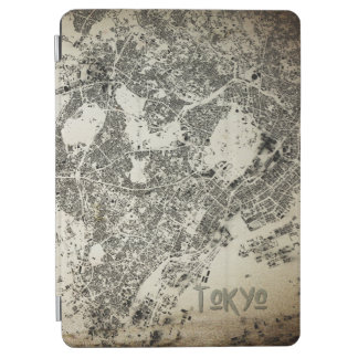 Tokyo City Streets Buildings Map Vintage Design iPad Air Cover