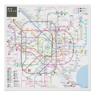 Tokyo INAT Map Poster