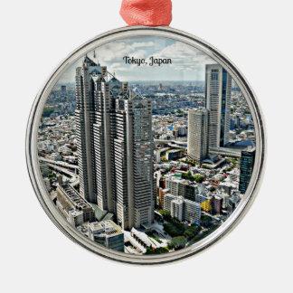 Tokyo, Japan cityscape Metal Ornament