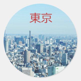 Tokyo, Japan Classic Round Sticker
