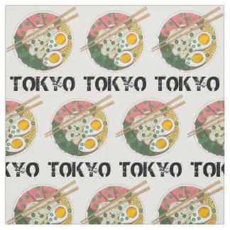 Tokyo Japan Japanese City Food Ramen Noodle Soup Fabric