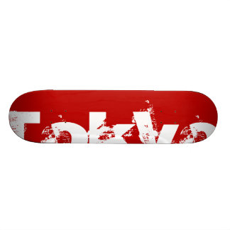 Tokyo - Japan, Red Color And White Text 21.6 Cm Skateboard Deck