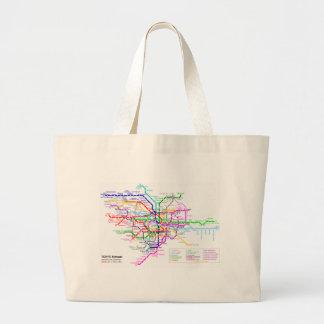 Tokyo Japan Subway Map Canvas Bag