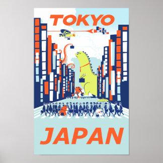 Tokyo, Japan travel poster