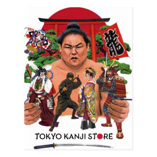 TOKYO KANJI STORE WORLD POSTCARD