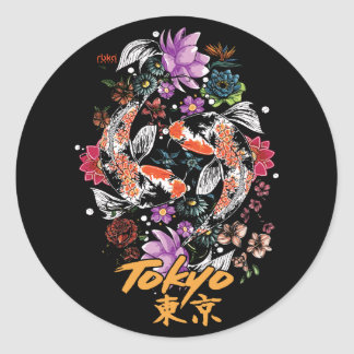Tokyo Koi Fish Sticker