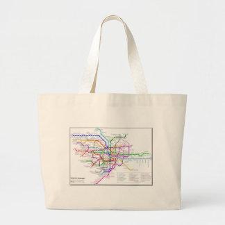Tokyo Metro Map Canvas Bag