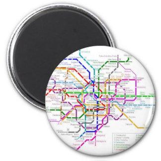 Tokyo Metro Map Magnet