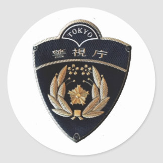 Tokyo Police Classic Round Sticker
