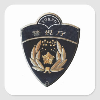 Tokyo Police Square Sticker