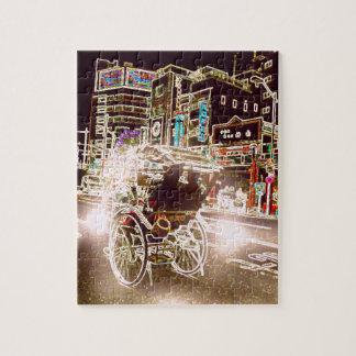 Tokyo Rickshaw Night Jigsaw Puzzle