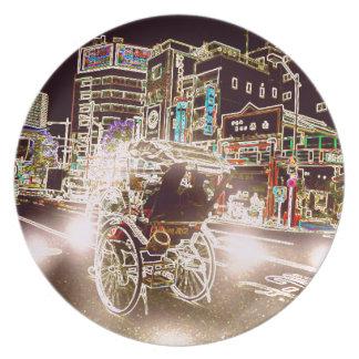 Tokyo Rickshw Night Plate