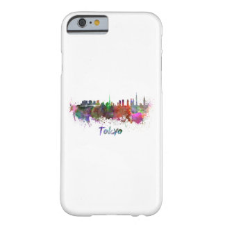 Tokyo skyline in watercolor barely there iPhone 6 case