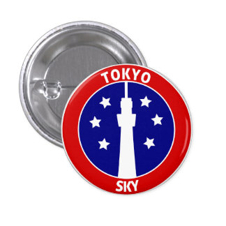 TOKYO SKYTREE 3 CM ROUND BADGE