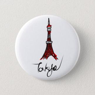 Tokyo tower 6 cm round badge