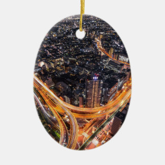Tokyo Traffic Ceramic Oval Decoration
