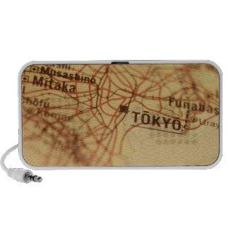 TOKYO Vintage Map Doodle Mp3 Speaker