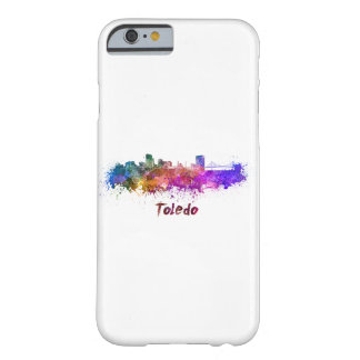 Toledo OH skyline in watercolor Barely There iPhone 6 Case