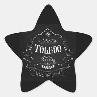 Toledo, Ohio - Corn City Star Sticker