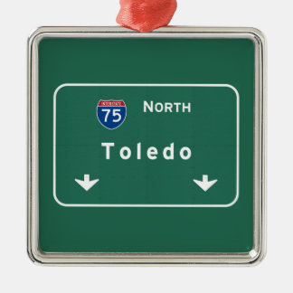 Toledo Ohio oh Interstate Highway Freeway : Metal Ornament