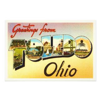 Toledo Ohio OH Old Vintage Travel Souvenir Photo Print