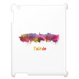 Toledo skyline in watercolor iPad cases