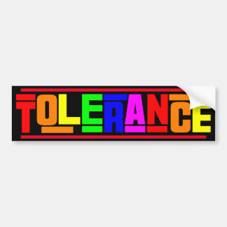 Tolerance Bumper Sticker