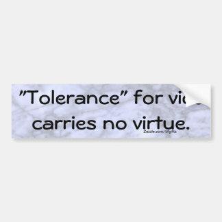 Tolerance Bumper Sticker