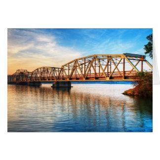 Toll Bridge Sunrise Greeting Card