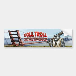 Toll Troll Golden Gate Bridge Bumper Stickers