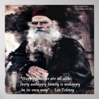 Tolstoy & Anna Karenina Opening Line Poster Poster
