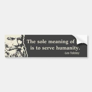 Tolstoy Quote Bumper Sticker Car Bumper Sticker