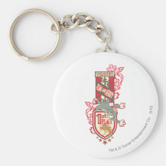Tom and Jerry 1st Place 1 Basic Round Button Key Ring