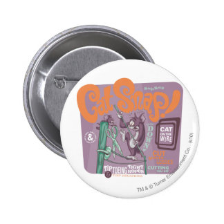 Tom and Jerry Cat Snap 6 Cm Round Badge
