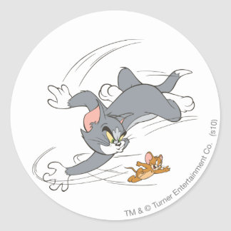 Tom and Jerry Chase Turn Round Sticker