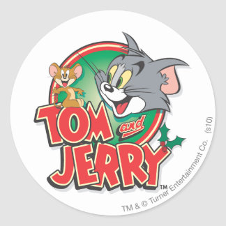 Tom and Jerry Classic Logo Round Sticker