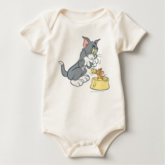 Tom and Jerry Feed The Cat Baby Bodysuit