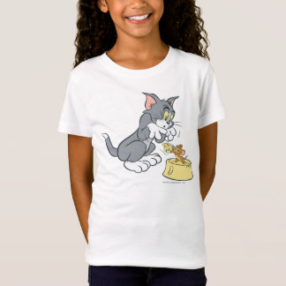 Tom and Jerry Feed The Cat T-Shirt