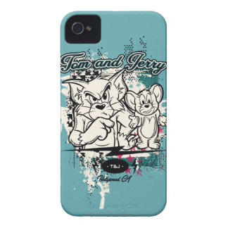 Tom and Jerry Hollywood CA iPhone 4 Case-Mate Cases