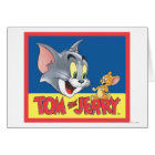 Tom And Jerry Logo Shaded Card