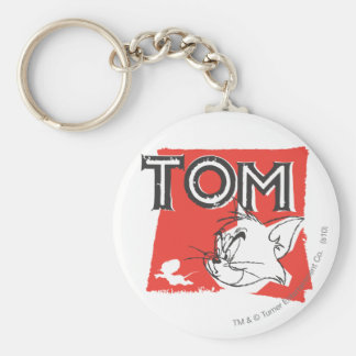Tom and Jerry Mad Cat Basic Round Button Key Ring