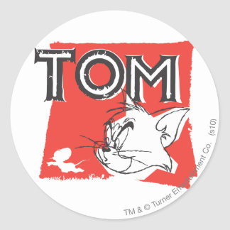Tom and Jerry Mad Cat Round Sticker