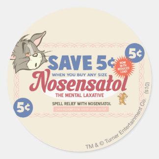 Tom And Jerry Nosensatol Coupon Round Sticker